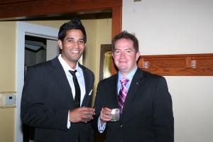 Rajan Desai and Rotary President Joel Kivett