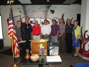 Left to Right: Bill Miller, Dan Bungardt, Dean Buhrle, Tim McGraw, Jim Bishop, Grant Lambert, Roger Miller, Judy Miksch
